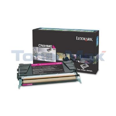 LEXMARK C748 TONER CARTRIDGE MAGENTA RP HY